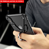 Black X Shape Holder Bumper Metal iPhone Case